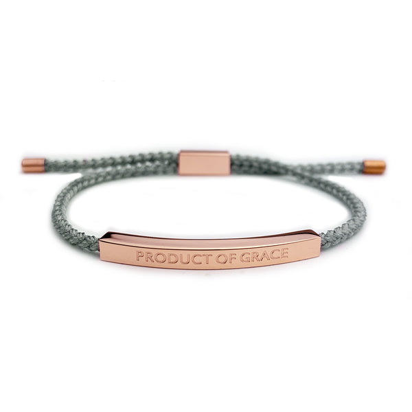 Halo Braided Rose Gold Bracelet