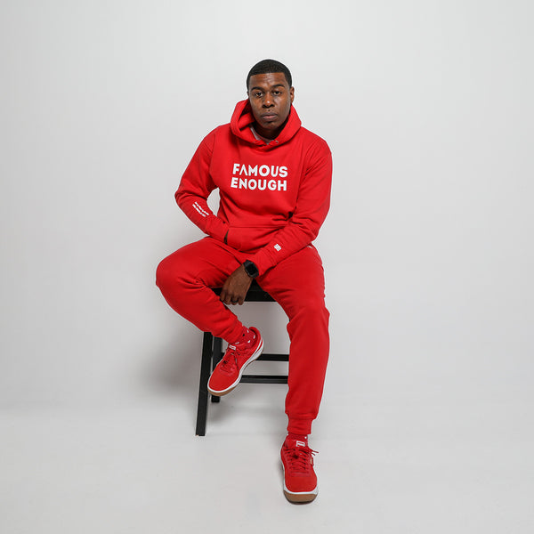 Famous Enough Jogger Set - Cherry Red