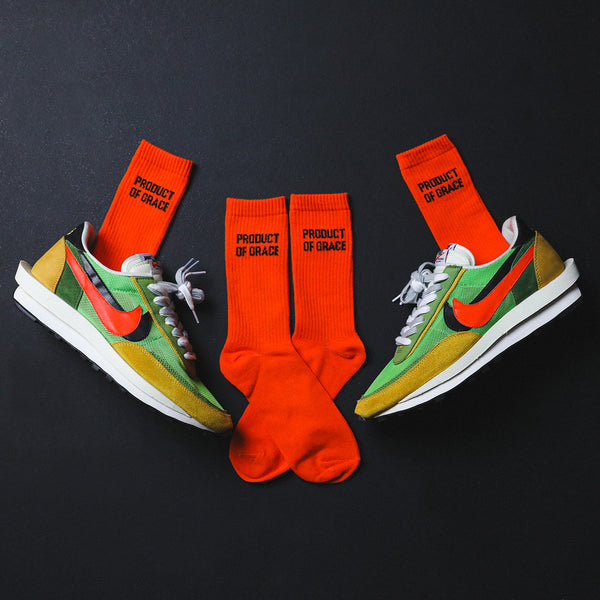 Minimalist Crew Sock - Product of Grace - Orange