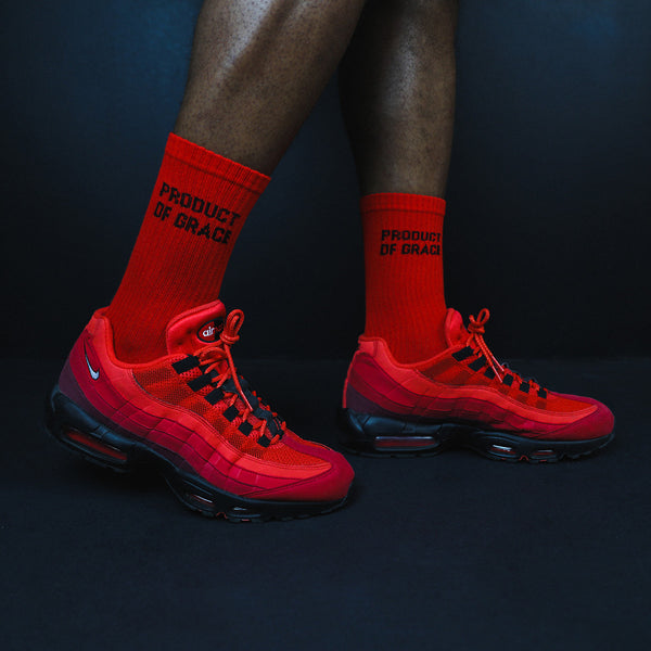 Minimalist Crew Sock - Product of Grace - Red