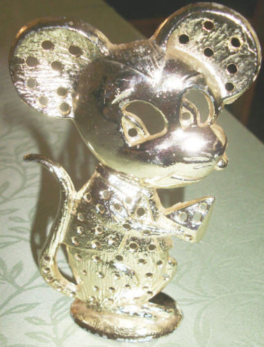 Vintage Mouse Tail Earring Display Jewelry Holder Torino Metal Eeek Mouse Cheese