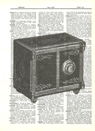 Antique Toy Safe Fun Dictionary Art Print Upcycled Art   fun042 - Paperink Graphics