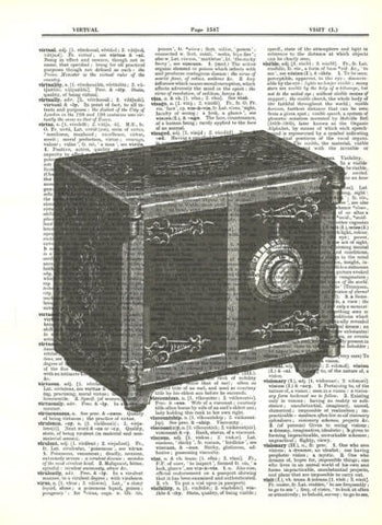 Antique Toy Safe Fun Dictionary Art Print Upcycled Art   fun042