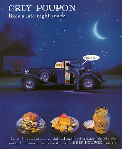 Grey Poupon DiJon Mustard Ad Starry Night Pardon me... Campaign Advertising 1994 - Paperink Graphics