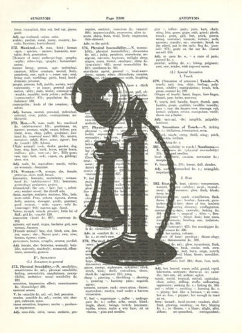 Antique Candlestick Telephone Dictionary Art Print Vintage Mixed Media fun040 - Paperink Graphics