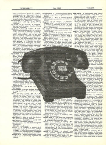 Antique Desktop Dial Telephone Dictionary Art Print Vintage fun041 - Paperink Graphics