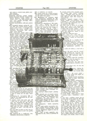 Antique Cash Register Dictionary Print Mechanical Mixed Media Wall Art fun062 - Paperink Graphics
