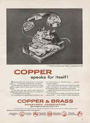 Cutaway Desk TELEPHONE Diagram 1956 Copper Industry AD