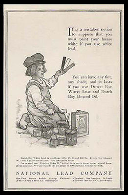 Dutch Boy National Lead 1913 C. M. Burd Print Ad