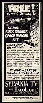 Buck Rogers Small AD Space Ranger Kit Offer 1952 Sylvania TV Advertising Promo - Paperink Graphics