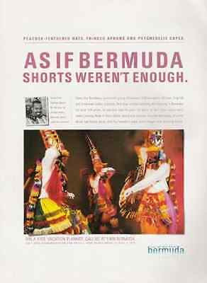 Bermuda Gombeys Dancer Group 2001 Photo AD Bermuda Shorts Travel - Paperink Graphics