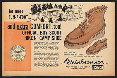 Weinbrenner 1961 Boy Scout Hike and Camping Shoe AD