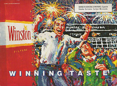 Winston Cigarettes Stadium Fireworks 1989 Continuity Graphic Art Ad - Paperink Graphics