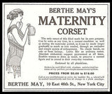 Berthe May's Maternity Corset Illustrated 1913 Ad NYC