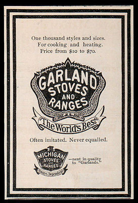 Garland Stove Ranges 1907 AD Cooking Heating Appliance Kitchen Household