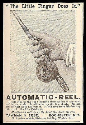 Reel 1883 Ad Yawman Erbe Super Antique Fishing Reel