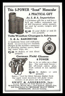 Monocular Scout Power 5 German Field Glasses Optical 1927 Photo Ad