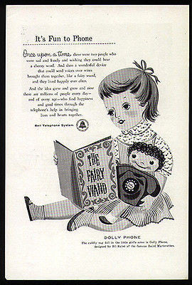Dolly Phone Baird Marionettes Design BELL Telephone Promo 1957 AD - Paperink Graphics