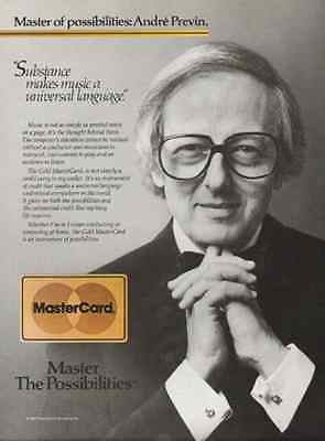 Andre Previn Composer Musician MasterCard 1986 Ad - Paperink Graphics