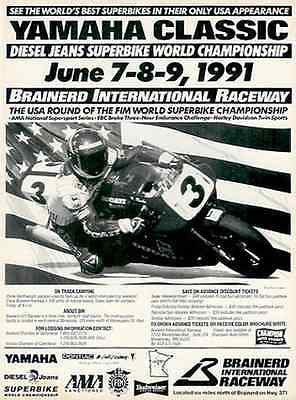 Motorcycles 1991 Superbike Ad YAMAHA Classic Brainerd International Raceway