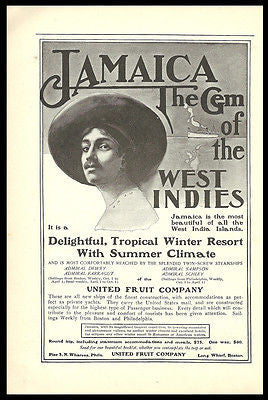 Jamaica Steamship AD 1901 Boston West Indies United Fruit Co Travel Tourist - Paperink Graphics