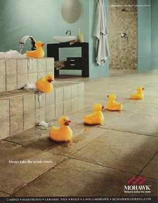 Yellow Rubber DuckiesToys AD Explore New World 2003 Mohawk Quarrystone Advert