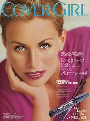 Cover Girl NIKI TAYLOR Magnified Lashes 1998 Photo AD Pro Advanced Mascara