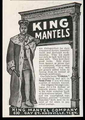 King Mantels Grates Tiles Household 1905 AD King Mantel Knoxville Tenn