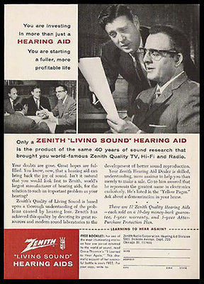 Hearing Aid Zenith Living Sound Medical Device Business Meeting 1959 AD