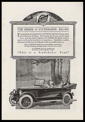Studebaker Convertible 1920 FLAPPER Transportation Antique Touring Car Ad