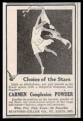 Flapper Modern Dance Carmen Complexion Powder Choice of Stars 1917 Print AD