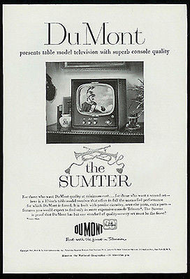DuMont Table Model The Sumter Television TV  Receiver 1951 Photo Ad