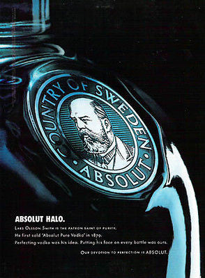 Absolut Halo 2003 Vodka Graphic Art Distillery Ad Lars Olsson Smith Sweden - Paperink Graphics