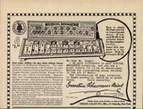Musical Animal Menagerie 1917 TOY Xylophone AD Siegel Sales Co. New York
