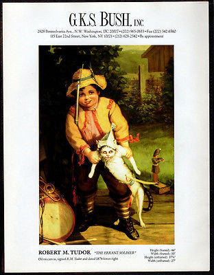 Boy Soldier Cat Pirate Gallery Art AD 1994 GKS Bush Artist Artwork Advertising