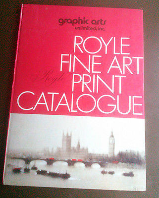Graphic Arts Unlimited Royle Fine Art Print Catalogue 1971 Hardcover Catalog
