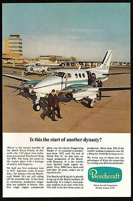 Beechcraft King Air B90 Commercial Dynasty Flying Aviation 1968 Photo Ad - Paperink Graphics