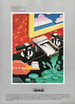 Kohler Bold Look As I See It No. 9 Bathroom Art 1989 AD
