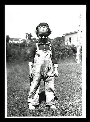 Boy Overalls Photograph July 1940 B/W Glossy 5x7 Thin Paper - Paperink Graphics