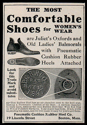 Rubber Heel AD 1907 Pneumatic Cushion Shoe Fashion