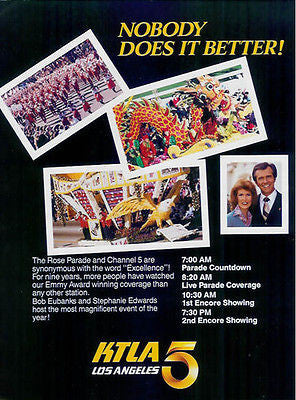 KTLA TV 5 Los Angeles Rose Parade Coverage 1985 AD