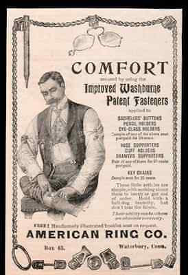 Eyeglass Holders Hose Supports 1898 Victorian Man AD