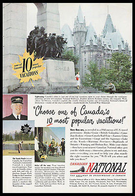 Canada National War Memorial Canadian National Railway 1949 Photo Ad