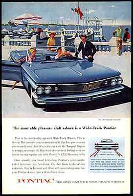 1960 Ad Bonneville Convertible Mad Men era Wide Track Pontiac Artist AF YK Art