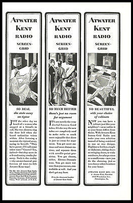 Atwater Kent  Radio AD 1929 Roaring Twenties Graphic Arts RADIO Advertising