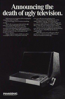 Ultra Modern TR-205 Panasonic TV Starstream 1967 Photo AD Best Looking TV Design