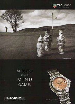 1997 Watch Ad TAG Heuer 6000 Chronometer Series Golf