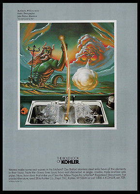 Kohler Bold Look As I See It No. 24 It's All Greek to Me Bathroom Art 1989 Ad