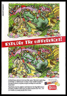 Candy Ad Dinosaur Necco 2006 Candies Puzzle Jungle Animation Art - Paperink Graphics