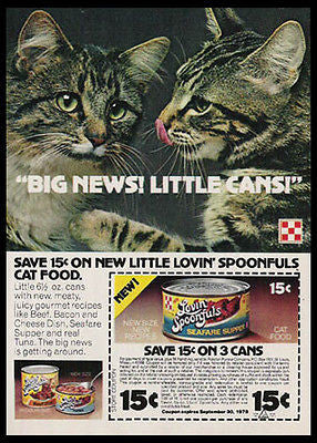 Grey Tiger CATS Lovin' Spoonfuls 1978 Photo Ad - Paperink Graphics